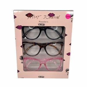 Betsey Johnson Cat's Eye Reading Glasses +2.00